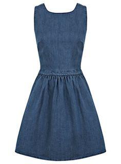 Blue Denim Prom Dress