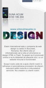 Model de flyer pentru Elasiv Design.