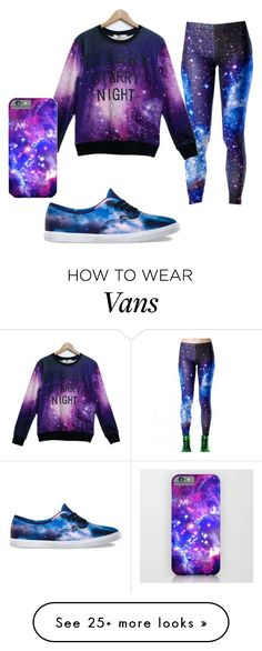 """Starry night"" by toni-ali on Polyvore featuring Vans, women's clothing, women, female, woman, misses and juniors"