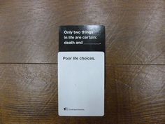 This player who is too honest for their own good. 14 Cards Against Humanity Players Who Win At Life Funny Relatable Memes, Funny Jokes, Hilarious, Relatable Posts, Funniest Cards Against Humanity, Horrible People, Funny Tumblr Posts, I Love To Laugh, Best Memes