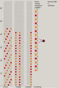 6 around tubular bread crochet diagram. Bead Crochet Patterns, Bead Crochet Rope, Crochet Diagram, Peyote Patterns, Bracelet Patterns, Beading Patterns, Crochet Beaded Bracelets, Beaded Crafts, Beaded Jewelry