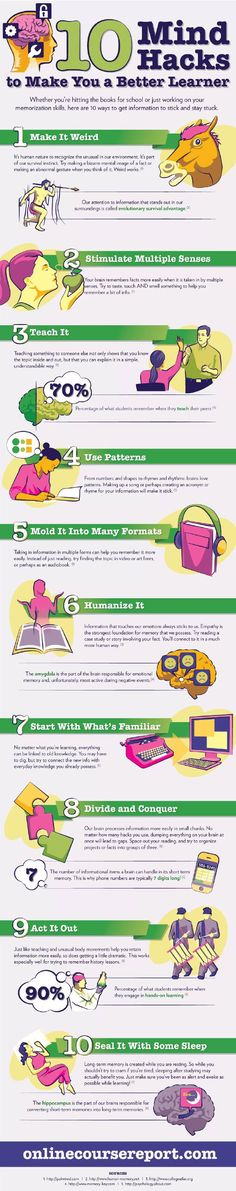 Infographic: 10 Mind Hacks to Make You a Better Learner - Mindful Minutes Research Writing, Academic Writing, Behavioral Economics, University Life, Best Brains, Mind Tricks, Educational Websites, School Hacks, School Counseling