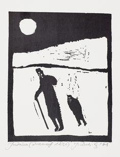 Jerzy Duda Gracz   Z CYKLU JUDAICA, 1964   drzeworyt, papier   13.3 x 10.7 cm