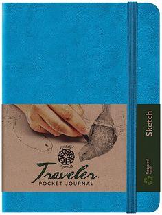 "Amazon.com - Pentalic Traveler Pocket Journal Sketch, 8"" x 6"", Bright Blue -"