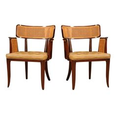 Caning! Pair of Dunbar Dining Chairs 1