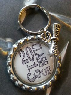 Blowout Sale!!!  ON SALE NOW!!!   Class of 2013 Bottle Cap Keychain by tracikennedy, $3.75