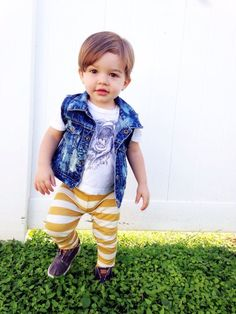 denim vest // little boy style