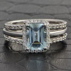 Emerald Cut Aquamarine Ring $899.00