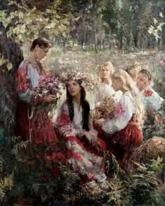 guslikoleso / the first Russian artist from the village / Russian painting / Russian artist / Russian painter / Russian landscape / Ivana Kupala Russian Folk, Russian Art, Russian Beauty, Oil Painting Gallery, Art Gallery, Images Esthétiques, Russian Culture, Russian Painting, Ukrainian Art