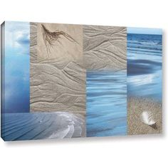 ArtWall Cora Niele Sand Sea Gallery-Wrapped Canvas, Size: 24 x 48, Blue