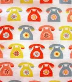 Telephones! Snuggle flannel #fabric :)