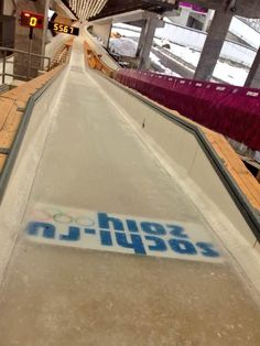 Twitter / Sochi2014: The start of the Sochi #Skeleton and #Luge course. Skeleton athletes go down this head first at speeds up to 135kph.