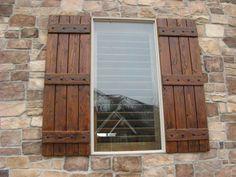 Exterior Wooden Shutters For Windows Exterior Wood Shutters Decorative Definite Doalbe DIY Idea I Would On Exterior Good Window Shutters Exterior, Outdoor Shutters, Cedar Shutters, Rustic Shutters, Diy Shutters, Homemade Shutters, Houses With Shutters, Distressed Shutters, Wooden Window Shutters