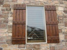 Rustic Shutters - Custom Exterior Designs