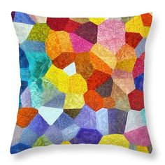 "Happy Hour Abstract Throw Pillow 14"" x 14"""