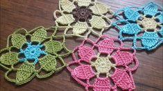 Tığişi Örgü Renkli Masa Örtüsü Yapımı &, Crochet