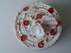 "Gluten & Dairy-free Victoria layer cake with strawberries & vanilla meringue ""buttercream"" @ Special bites"