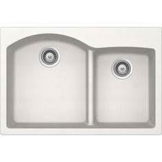 Buy here: http://thd.co/1NMxBTy SCHOCK EDON175T099 EDO Series CRISTADUR 70/30 Topmount Double Bowl Kitchen Sink, Polaris #kitchensink #kitchensinks #kitchen #sinks #schock #granitesink