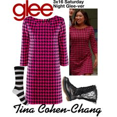 Tina Cohen-Chang (Glee) : 3x16 by aure26 on Polyvore featuring polyvore, fashion, style, Forever 21, H