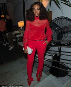 Lady in red:Solange Knowles ensured all eyes were on her in a bright and…