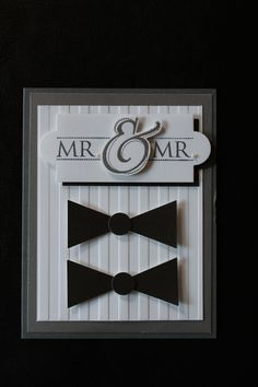 Mr. & Mr. Wedding card for the happy gay couple!