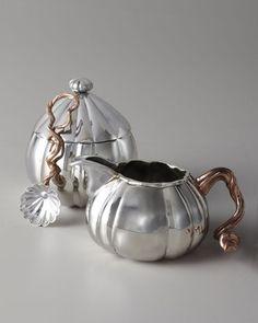 "home decor & kitchen interior design - ShopStyle: Michael Aram Gourd & Vine"" Creamer & Sugar Pot with Spoon"