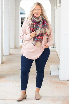 35 Casual Spring Outfits Ideas for Plus Size Women - Bebeautylife Plus Size Winter Outfits, Plus Size Fall Outfit, Fall Outfits For Work, Plus Size Fashion For Women, Fall Fashion Outfits, Casual Fall Outfits, Look Fashion, Plus Size Women, Spring Outfits