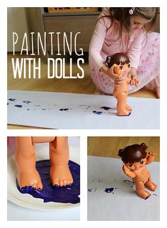Kids will love this painting activity. It was my very favorite when I was in preschool back in the old days!