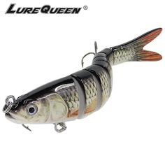 10cm Bass Pike Fishing Bait Lure Jointed Minnow Baby Pike Floating NEW