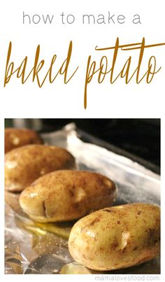 How to make a baked potato! This tutorial is an easy and simple way to get a…