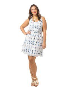 Jodan Batick Textured Dress by  @bbdakota,  Available in sizes 1X-3X