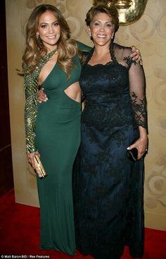 Jenifer Lopez with her mom