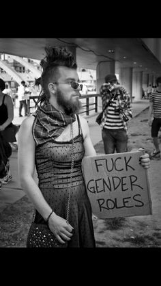 """And fuck the sexist """"transgenders"""" who think gender roles are so important and absolute. Anyone can wear a dress, male or female. There is no dress-wearing gene that only women are born with, that turns you into a woman if you put on a dress."""
