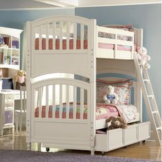 Build-A-Bear by Pulaski Pawsitively Yours Twin over Twin Bunk Bed with Trundle $1,345