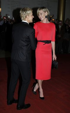 Portia de Rossi shows her support for wife Ellen DeGeneres. (Credit: Scott Suchman)