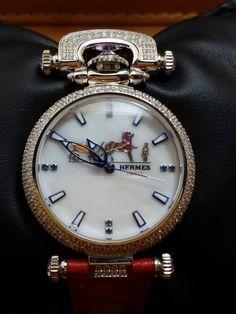 günstig Hermes Paris Marken Damenuhr billig gut preiswert Stainless steel diamonds