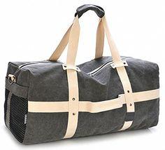 f317e5d34f6 Kenox Oversized Large Canvas Travel Duffel Bag Weekender Bag Overnight Bag  for Men   undefined