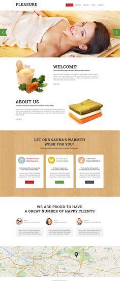 Website Template , Sauna