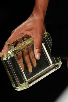 Fendi lucite clutch..too bad they don't make a cheap version