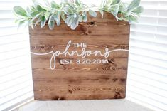 Wedding Guest Book Sign Custom Wooden Guest by BitsOfImperfection Wooden Wedding Guest Book, Wood Guest Book, Wedding Guest Looks, Guest Book Sign, Wedding Book, Wedding Ideas, Trendy Wedding, Dream Wedding, Guest Books