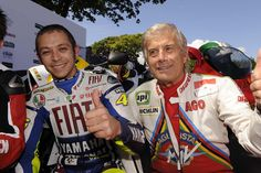 Rossi and Agostini at the Isle of Man TT