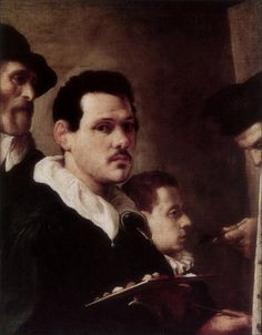 Annibale Carracci · Autoritratto e altre figure · 1588-90 · Pinacoteca di Brera · Milano