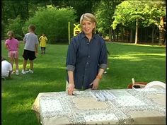 Tablecloth Weights for Outdoor Eating Videos | Crafts How to's and ideas | Martha Stewart