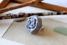 Ringe - Beton Ring Rose lila Schein ♥ Romantik ♥ - ein Designerstück von Ranita bei DaWanda