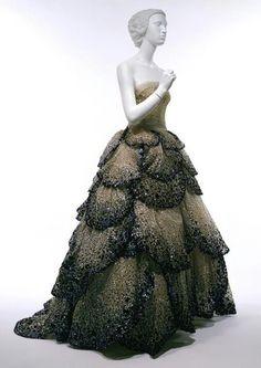 1950's fashion   1950's Dior dress   Fashion- Dresses