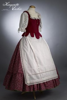 Margarita Vercher Medieval Dress, Medieval Clothing, Folk Costume, Costumes, European Dress, Fairytale Dress, Maid Outfit, Royal Dresses, Fashion Sewing