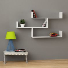 Tibet Modern Wall Shelf White