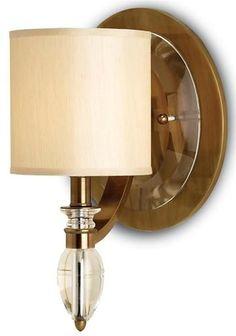 Wall Sconce CURREY SEBASTIAN 1-Light Beige Bronze Coffee Brown/Beige/Tan CC-186