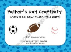 Father's Day Sports Craftivity!