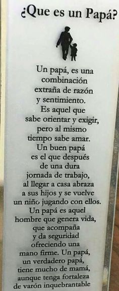 Day of father ♥ Spanish Inspirational Quotes, Spanish Quotes, Motivational Phrases, Mo S, Cool Words, Quote Of The Day, Fathers Day, Texts, Love Quotes